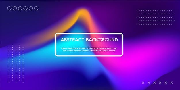 Fond liquide dynamique coloré pour la page de renvoi web Vecteur Premium
