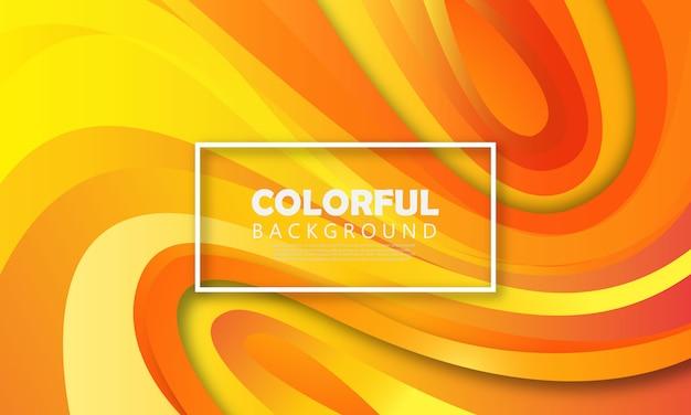 Fond liquide orange Vecteur Premium