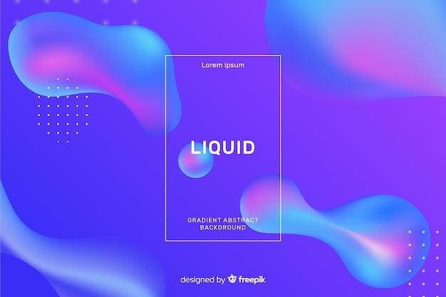 Fond liquide réaliste Vecteur gratuit