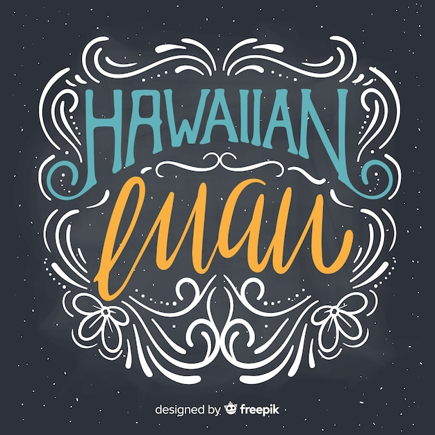 Fond de luau hawaïen Vecteur gratuit