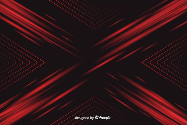 Fond avec lumière rouge géométrique Vecteur gratuit