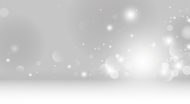 Fond De Lumières Bokeh Abstrait Vecteur Premium