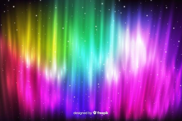 Fond de lumières colorées du nord Vecteur gratuit