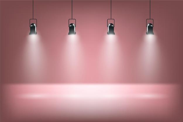 Fond De Lumières Spot Vecteur gratuit