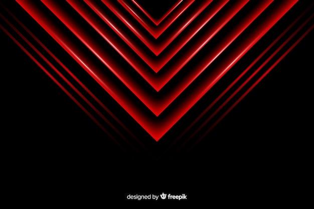Fond de lumières triangle rouge géométrique Vecteur gratuit