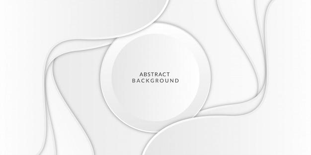 Fond De Luxe Abstrait Forme Vague Grise Blanche Vecteur Premium