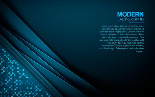 Fond de luxe de couches de chevauchement bleu Vecteur Premium