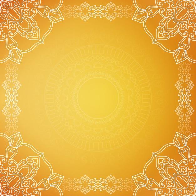 Fond de luxe élégant jaune Vecteur gratuit