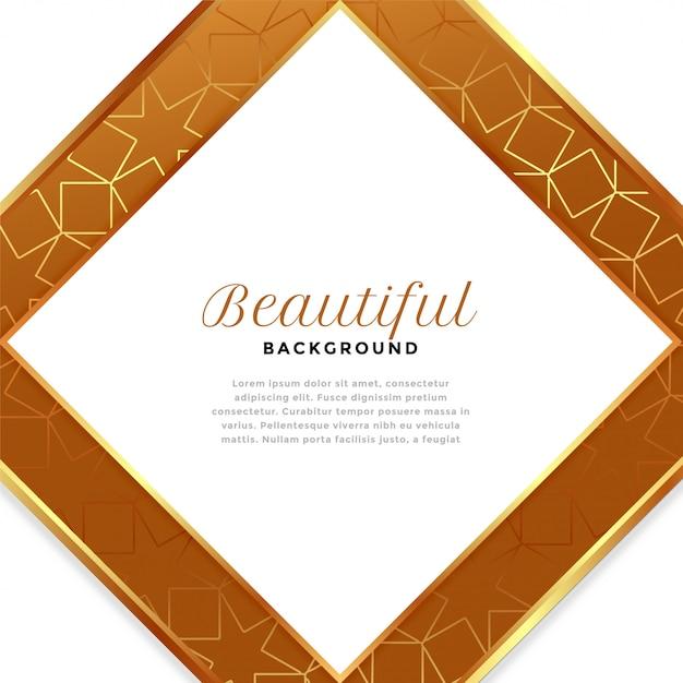 Fond De Luxe En Forme De Diamant Blanc Et Doré Vecteur gratuit