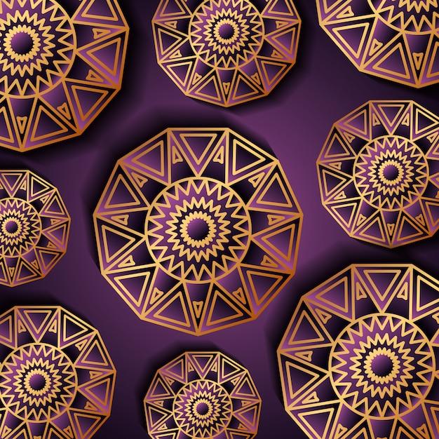 Fond de luxe or et violet Vecteur Premium