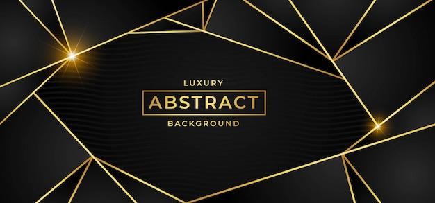 Fond de luxe avec le vecteur d'or Vecteur Premium