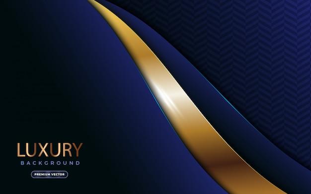 Fond Luxueux Avec Des Formes Dorées étincelantes. Vecteur Premium