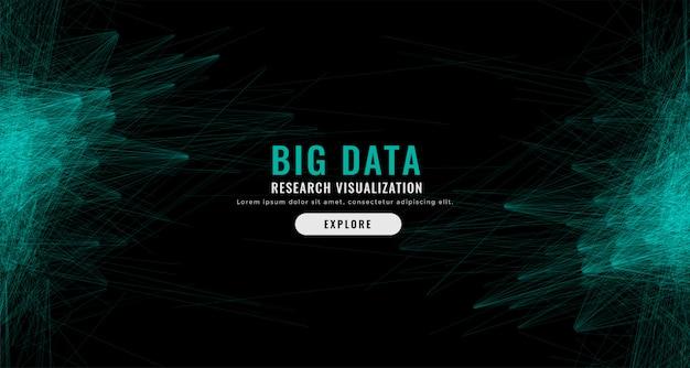 Fond de maillage numérique abstrait big data Vecteur gratuit