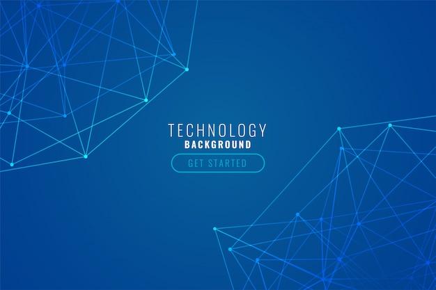Fond De Maille Bleu Abstrait Tech Vecteur gratuit