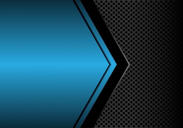 Fond de maille bleu cercle espace métallique métallique. Vecteur Premium
