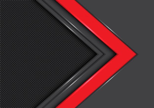 Fond de maille de cercle de direction flèche gris rouge. Vecteur Premium