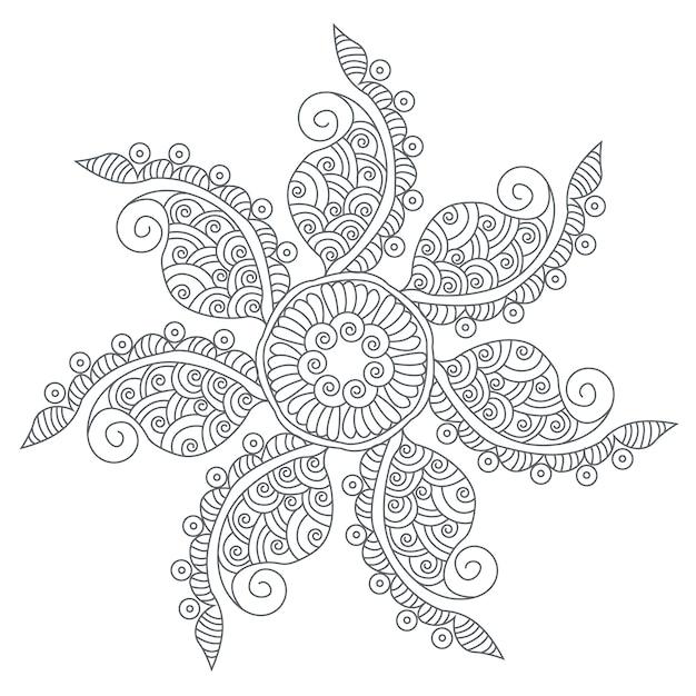 Fond De Manadala Floral Vecteur gratuit