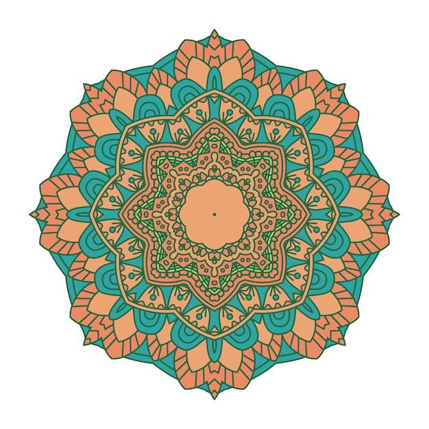 Fond De Mandala Coloré Vecteur Premium