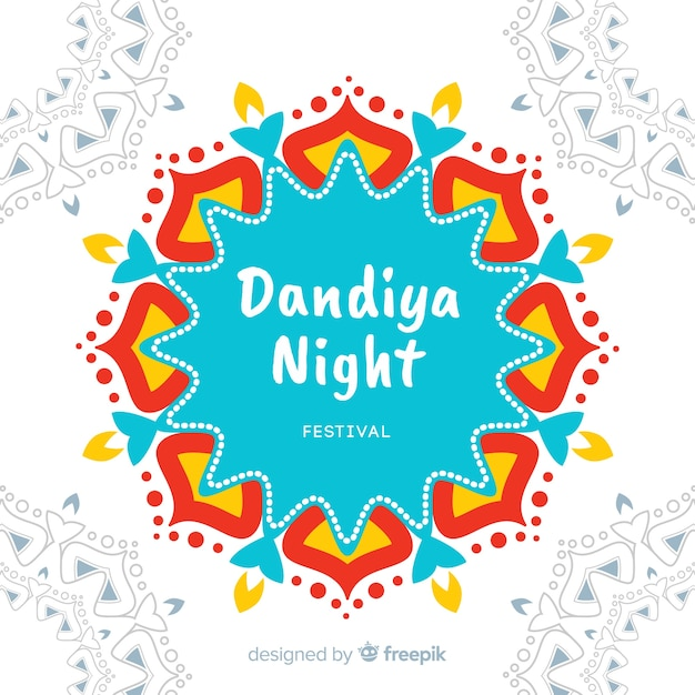 Fond de mandala dandiya coloré Vecteur gratuit