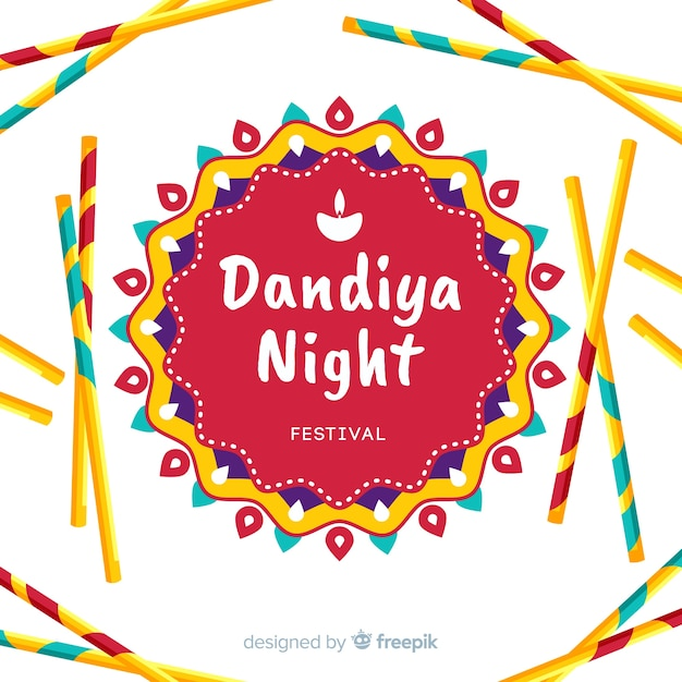 Fond de mandala dandiya Vecteur gratuit
