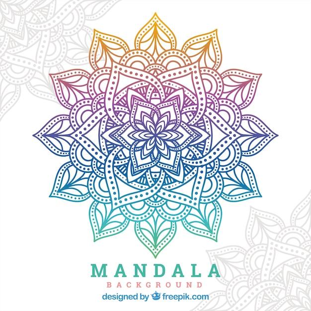 Fond De Mandala De Dégradé Vecteur gratuit