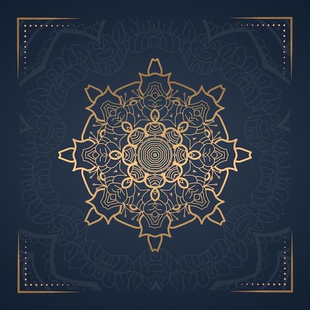 Fond De Mandala De Luxe Pour La Couverture Du Livre Vecteur Premium