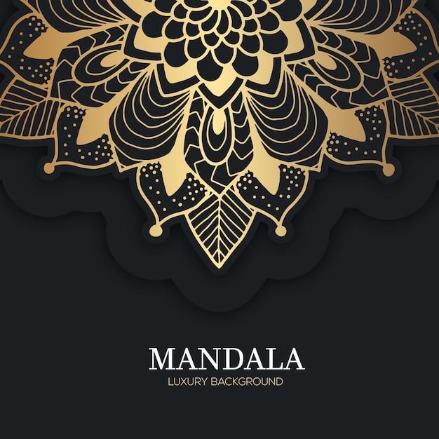Fond De Mandala De Luxe Vecteur gratuit