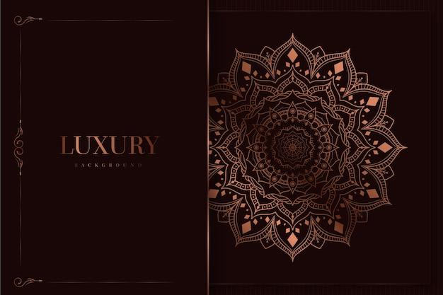Fond De Mandala Luxueux Et élégant Vecteur gratuit