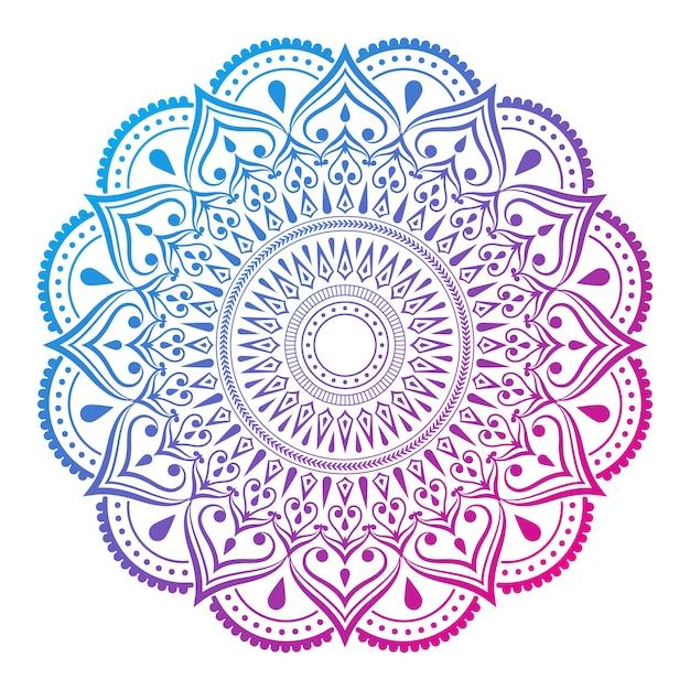 Fond De Mandala Avec Motif Arabesque Coloré Style Oriental Islamique Arabe Vecteur Premium
