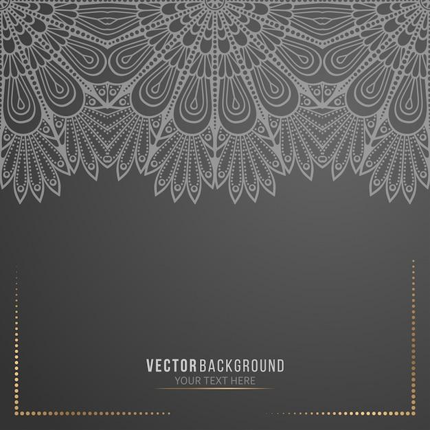 Fond De Mandala Noir Vecteur Premium