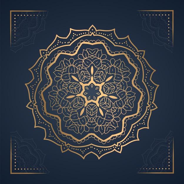 Fond De Mandala D'ornement Pour Invitation De Mariage Vecteur Premium