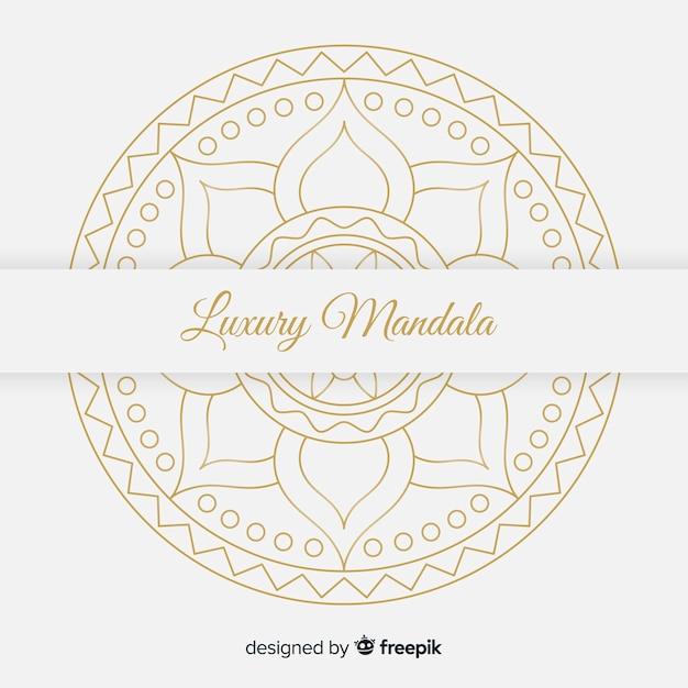 Fond de mandala Vecteur gratuit