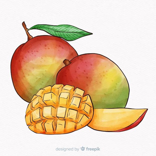 Fond de mangue dessiné à la main Vecteur gratuit
