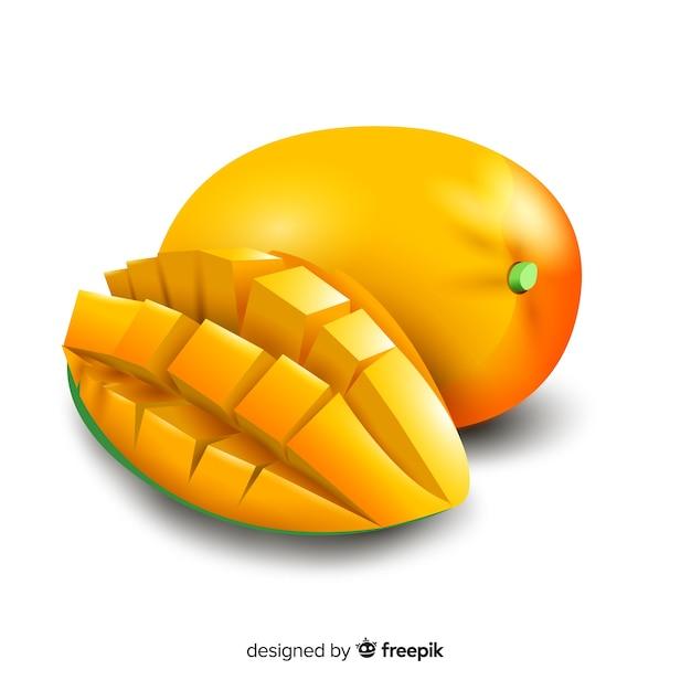 Fond de mangue réaliste Vecteur gratuit