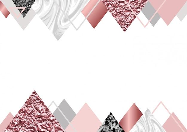 Fond de marbre rose Vecteur Premium