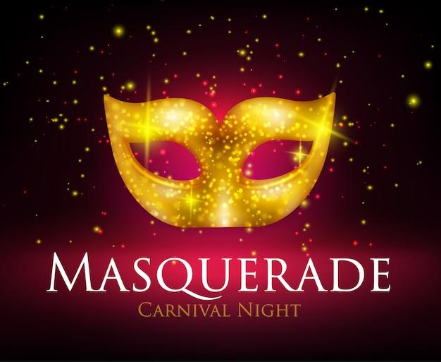 Fond De Masque De Mascarade Vecteur gratuit