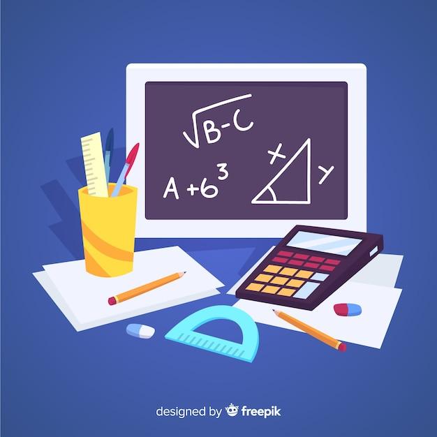 Fond Matériel Maths De Dessin Animé Vecteur gratuit