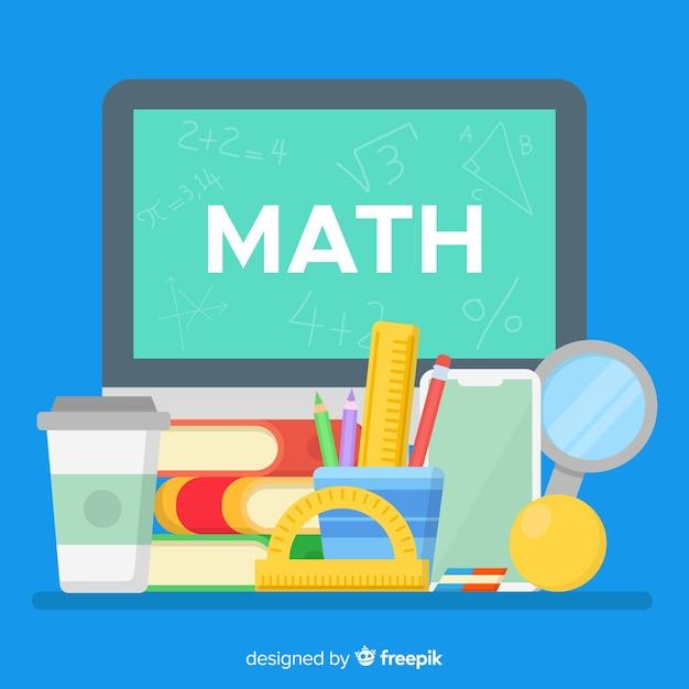 Fond de maths de dessin animé Vecteur gratuit