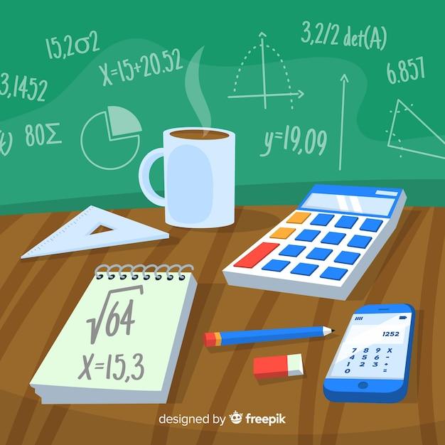 Fond de maths Vecteur gratuit