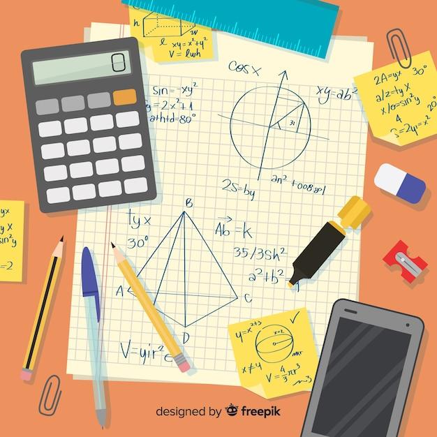 Fond De Maths Vecteur Premium