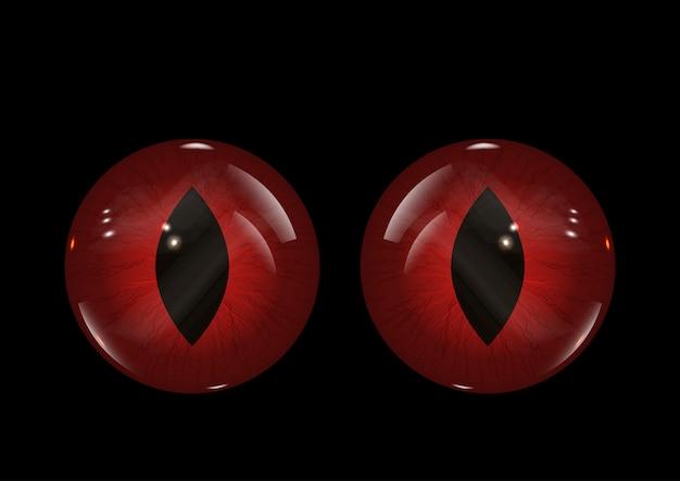 Fond de mauvais yeux halloween Vecteur gratuit