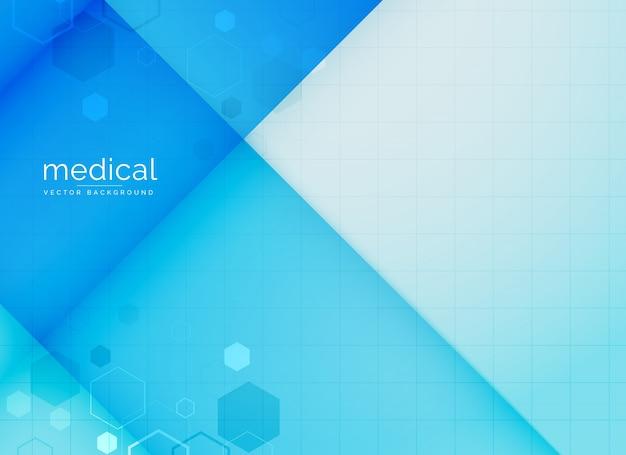 Fond médical abstrait en couleur bleue Vecteur gratuit