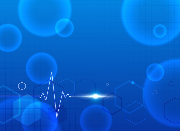 Fond médical bleu avec espace de texte Vecteur gratuit