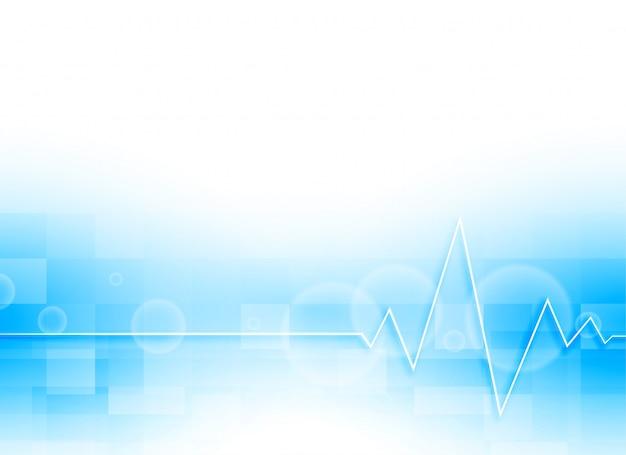 Fond médical bleu Vecteur gratuit
