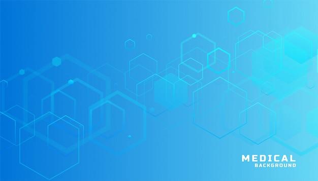 Fond Médical Et De Santé Hexagonal Bleu Vecteur gratuit