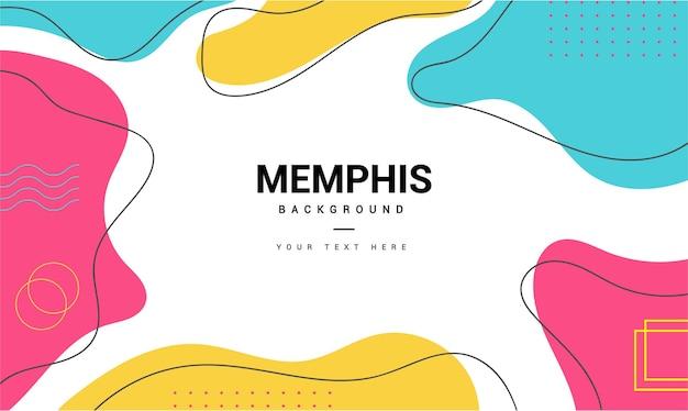 Fond De Memphis Moderne Avec Des Formes De Style Memphis Minimales Vecteur gratuit