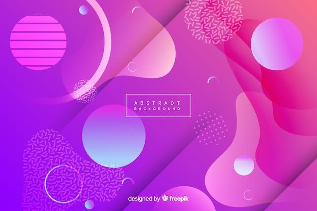 Fond de memphis violet Vecteur gratuit