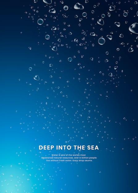 Fond de mer profonde Vecteur gratuit