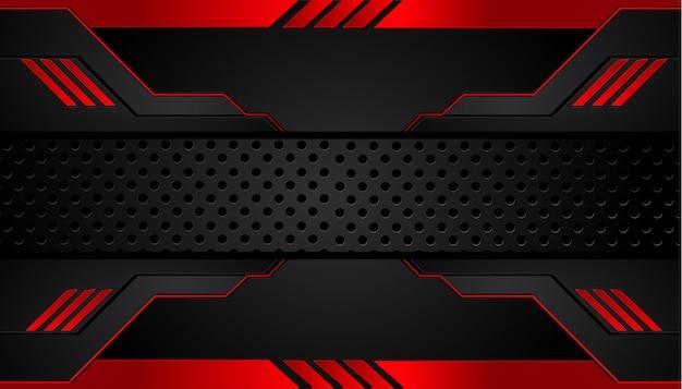 Fond métal noir et rouge Vecteur Premium