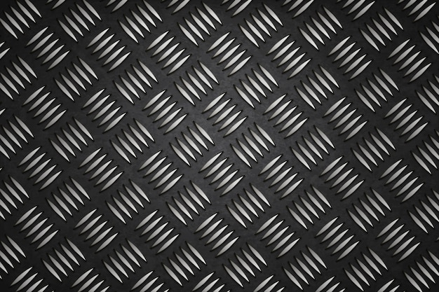 Fond métallique en acier design noir Vecteur Premium